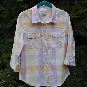 Nike 6.0 Paste Plaid Top With Button Flap Pockets